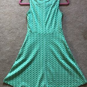 New York &Company green textile flow dress